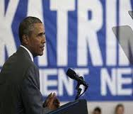 """أوباما: """"كاترينا"""" مثال عن عجز الحكومة أمام الكوارث"""