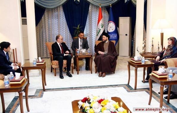 السيد الحكيم يشدد للسفير الامريكي ضرورة استمرار دعم العراق دولياً ضد داعش