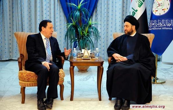 السيد عمار الحكيم: التسوية الوطنية تضمن حقوق الجميع وتحتاج لدعم الأشقاء العرب