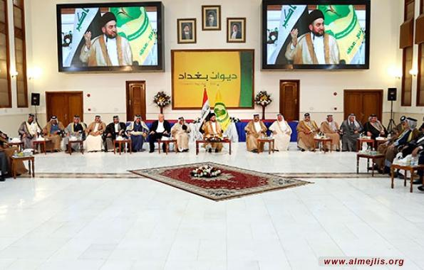 السيد عمار الحكيم يؤكد خلال لقائه شيوخ العشائر ضرورة تقديم وجوه جديدة للانتخابات المقبلة