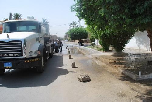 حملة كبرى للتنظيف والتشجير في بغداد
