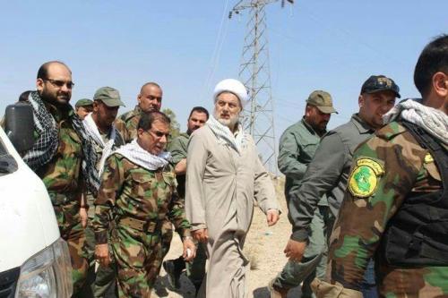 الشيخ همام حمودي يزور مقر قيادة عمليات سرايا الجهاد وعاشوراء في الفلوجة