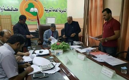 لجنة التربية النيابية تناقش مع تربية واسط ضوابط التعيينات