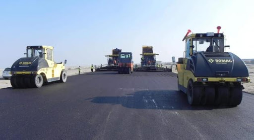 شركة حمورابي تواصل العمل في مشروع الممر الثاني لطريق رمادي – حديثة