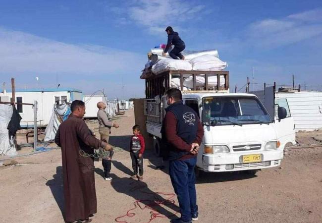 عودة (98) نازحا من مخيم عامرية الفلوجة الى مناطقهم الأصلية