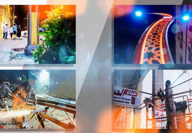 العتبة الحسينية تشرع بتطوير أهم شارع في مركز كربلاء