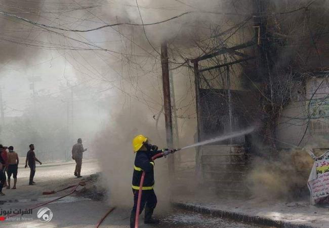 حريق يلتهم مولدة كبيرة غربي بغداد