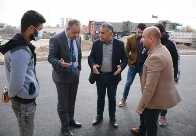 وفد الأمانة العامة لمجلس الوزراء يزور مشروع تطوير منطقة داموك والضباط في واسط